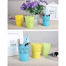 colorful plastic flower pot planter garden flower plant pots desk
