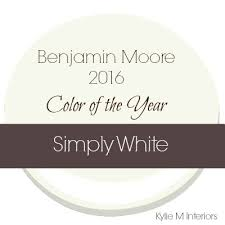 benjamin moore color of the year 2016 simply white best off white