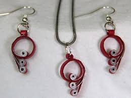 quilling earrings set quilling earrings and chain beautify themselves with earrings