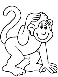 coloring luxury monkey colour coloring monkey