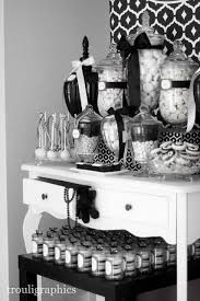 Black And White Candy Buffet Ideas by 52 Best Black U0026 White Parties Images On Pinterest Black And