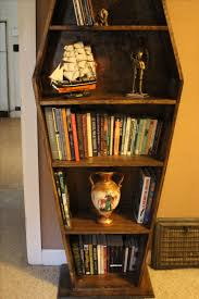 coffin bookshelf buy a made coffin bookcase made to order from wartooth