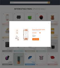 amazon interesting finds page redesign on behance