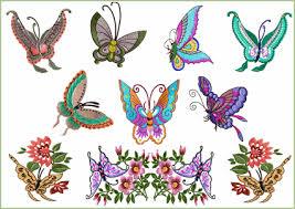 butterflies embroidery