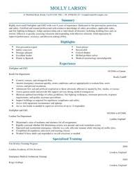 Firefighter Job Description Resume by Firefighter Cv Example For Emergency Services Livecareer