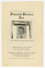 Paper For Funeral Programs Funeral Program For Neicie Elizabeth Matthews Jovember 8 1969