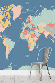navigator kids world map wallpaper mural wall paper pinterest navigator kids world map wallpaper mural