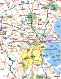road map massachusetts usa road map of boston metropolitan area boston massachusetts