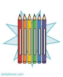 color pencil coloring pages for kids to color and print