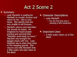 themes of macbeth act 2 scene 1 act 2 notes teacher
