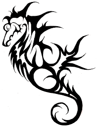 creature cool tribal pencil and in color