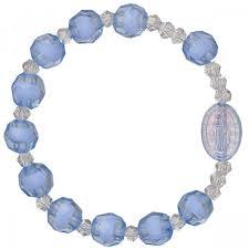 rosary bracelet blue children s stretch rosary bracelet leaflet missal