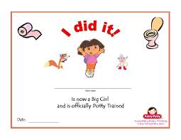free dora potty training charts potty training concepts