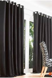 Black Curtains 90x90 Black Faux Suede Fully Lined Heavy Curtains 90