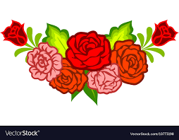 decoration flowers decoration with mexican flowers royalty free vector image