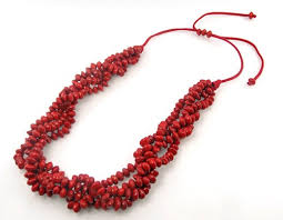 seed necklace images Red chocho seed necklace aria handmade jpg