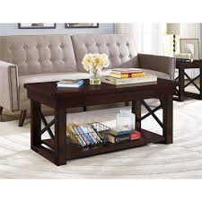 Dark Oak Furniture Better Homes And Gardens Preston Park Coffee Table Mahogany