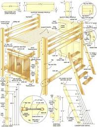 Free Loft Bed Plans Full by Loft Bed Plans Full Size Loft Bed Do It Yourself Home Projects