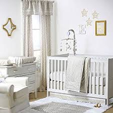 amazon com gold confetti dot print 100 cotton fitted crib sheet