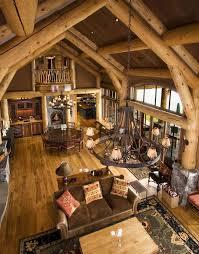 Best Log Cabin Interiors Images On Pinterest Dream Kitchens - Small cabin interior design ideas