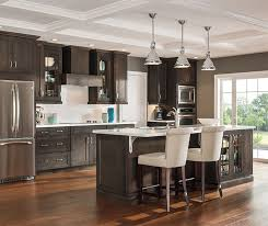 Grey Cabinets In Kitchen Flagstone Gray Cabinet Stain On Maple Aristokraft