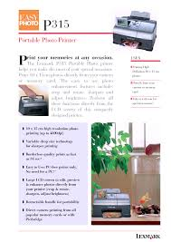 download free pdf for lexmark p315 printer manual