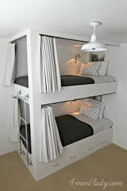 Built In Bunk Bed Plans Bunk Beds And Bedroom Reveal