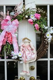 Spring Wreath Ideas Front Doors Front Door Door Design Easter Front Door Wreaths