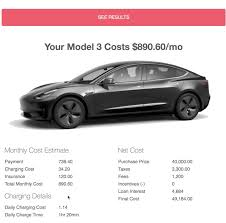 tesla charging tesla model 3 calculator results including insurance charging