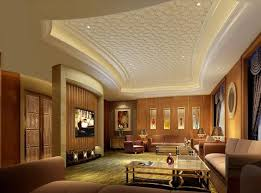 Luxury Pattern Gypsum Board Ceiling Design For Modern Living Room - Ceiling design for living room