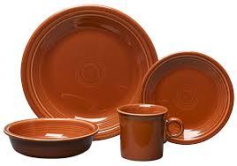 amazon com fiesta 4 piece place setting paprika dinnerware