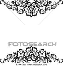 clip of flower vector ornament corner k25070559 search