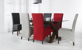 Red Dining Room Chair Modren Red Fabric Dining Chairs Mesmerizing C On Inspiration