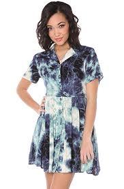 evil twin shirt dress dry lightning babydoll in blue karmaloop com