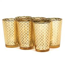 glass votive candle holders 4 lattice gold votive holders