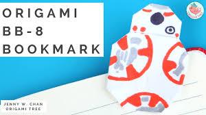 star wars origami post it note bb 8 bookmark star wars paper