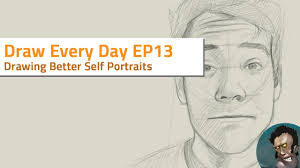 draw every day ep 13 how to draw better self portrait youtube