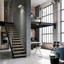 Industrial Home Interior Design Pin By On 50 Shades Of G Ey Pinterest Interiors Staircases