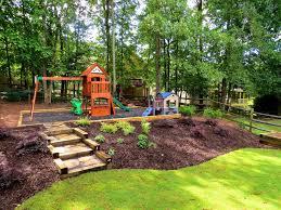 landscaping ideas backyard with hill fleagorcom