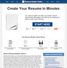 Quick Resume Builder Free Quick Easy Resume Builder