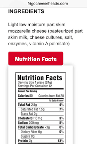 carbs in light string cheese 83 best nutrition facts images on pinterest diet impala and nutrition
