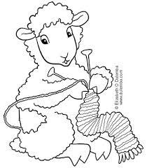 dulemba coloring tuesday knitting sheep