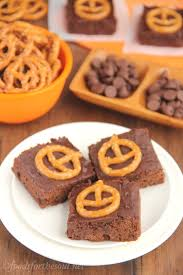 pumpkin pretzel halloween brownies amy u0027s healthy baking