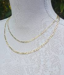 mens figaro chain necklace images Solid 9ct yellow gold figaro chain 18 quot 20 quot 22 quot 24 quot for men ladies jpg
