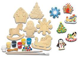paint your own ornaments includes everything you need