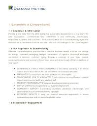 chairman s annual report template sustainability report template