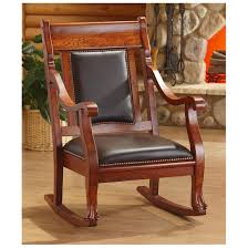 Living Room Rocking Chairs Castlecreek Rocking Chair Walnut Finish 229620 Living Room At