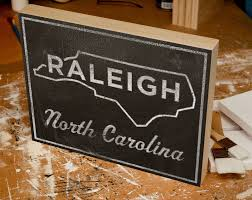 raleigh box college town print 11 x 14 carolina