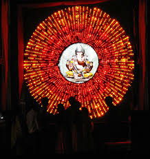 Decoration Themes For Ganesh Festival At Home by Ganpati Lighting Decoration Ideas At Home Home Ideas
