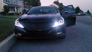 2011 hyundai sonata headlights 2011 hyundai sonata led halo hid headlights hyundai sonata forum